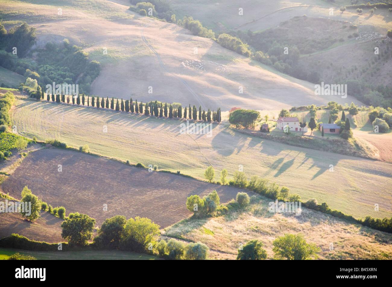 Scenic Tuscan landscape Montepulciano, Tuscany, Italy, Europe - Stock Image