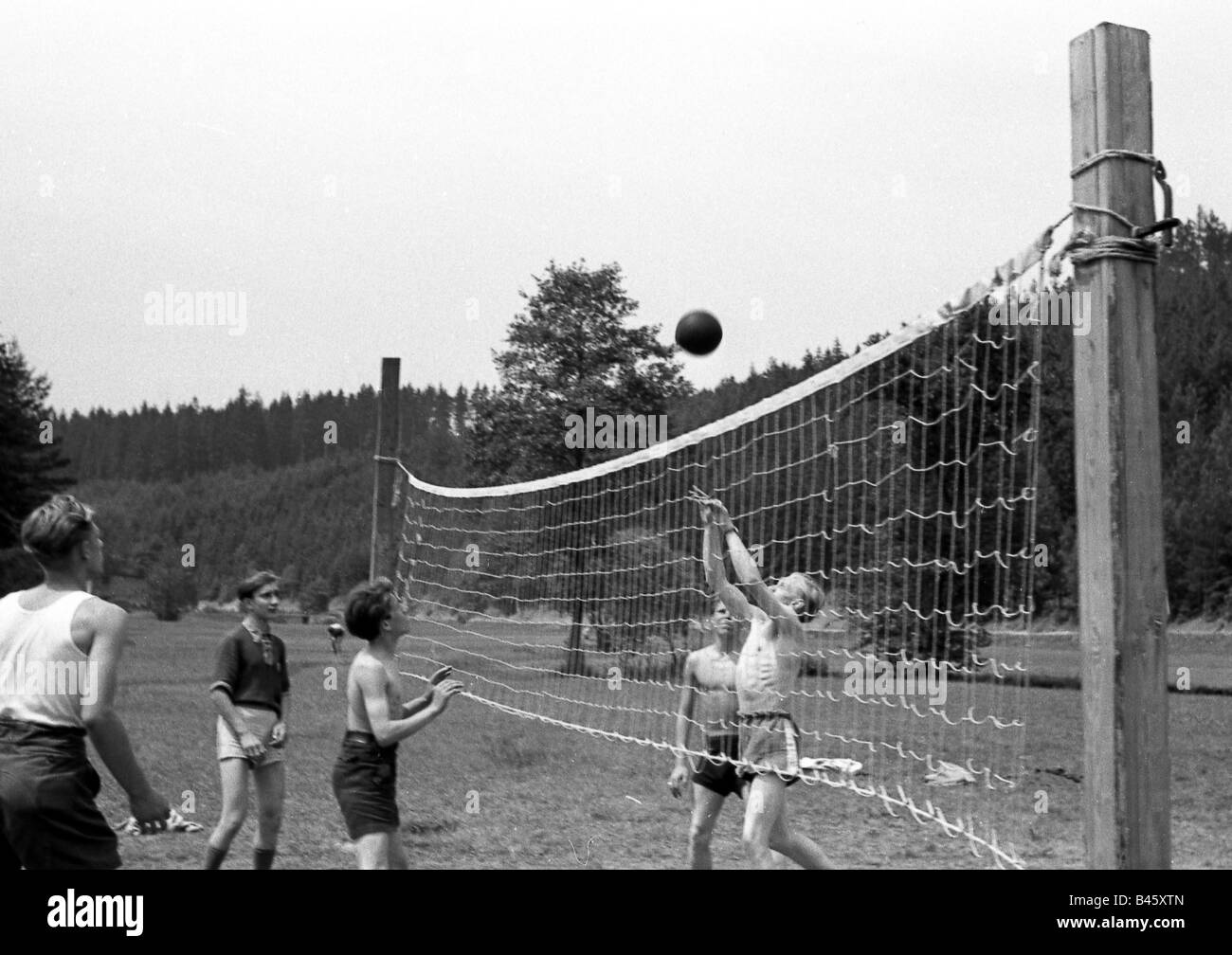 geography/travel, Germany, German Democratic Republic, organisations, Free German Youth, camp, Thuringia, 1952, - Stock Image