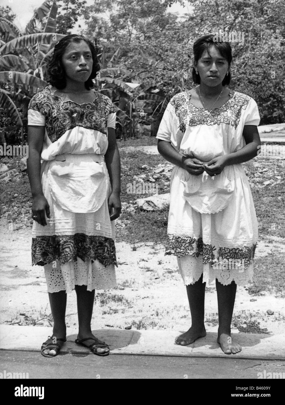 people, ethnology, women, Mexico, Maya women,  Yucatan, 1960s, Additional-Rights-Clearances-NA - Stock Image
