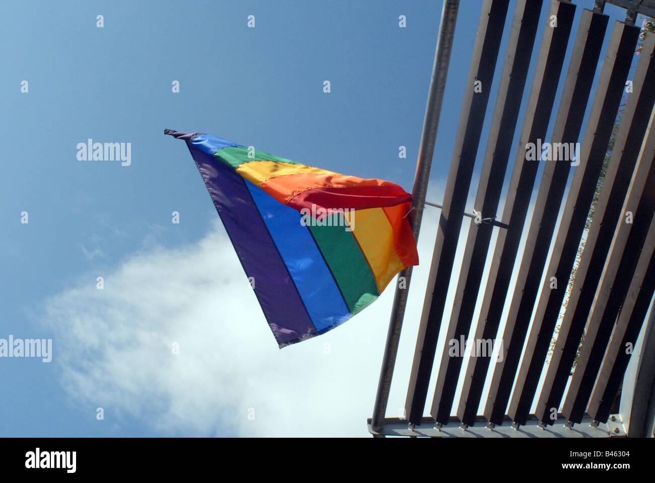 Pride Flag, Manchester Stock Photo
