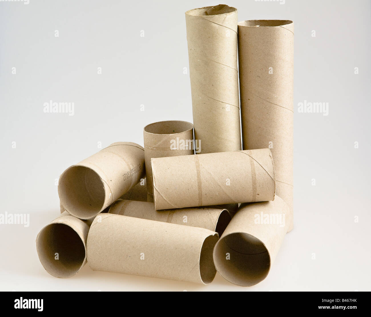 Cardboard toilet and kitchen towel roll innards Stock Photo ...