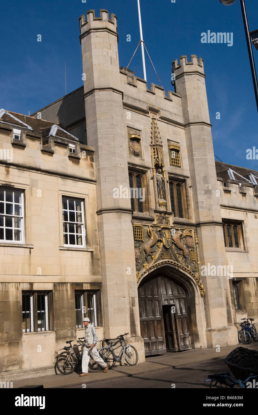 The Great Gate Christ's College Cambridge Cambs GB UK England - Stock Image