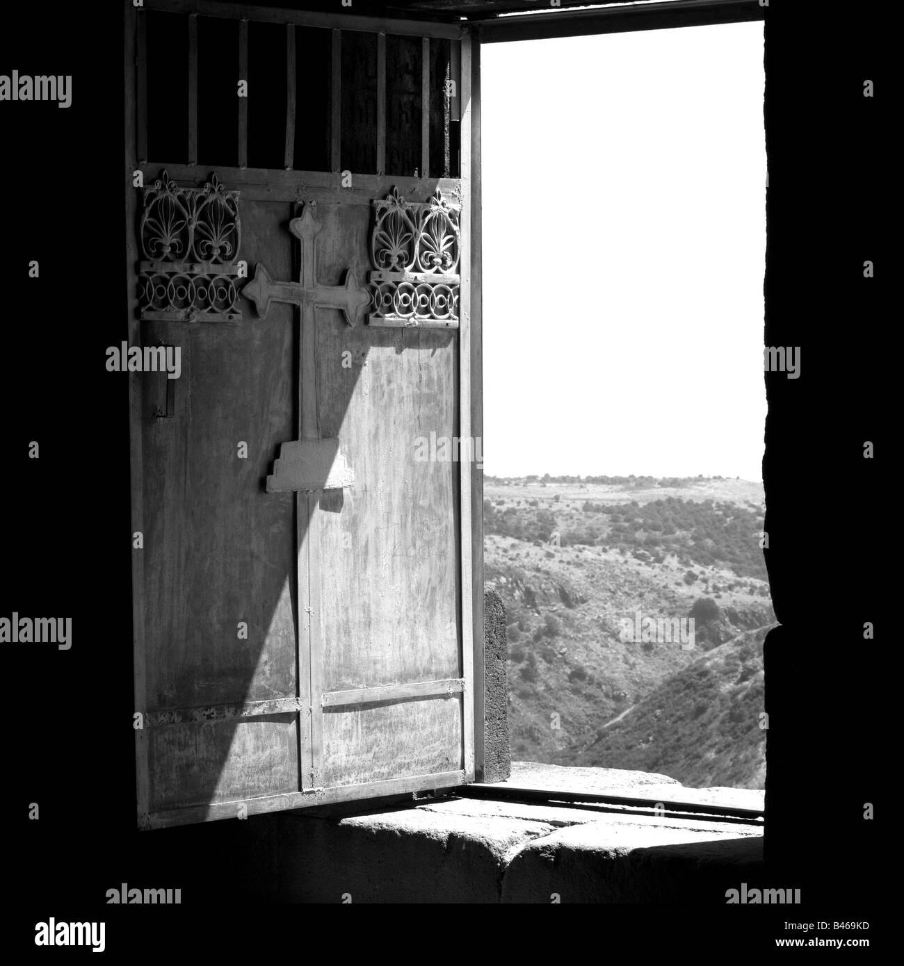 Amberd door - Stock Image