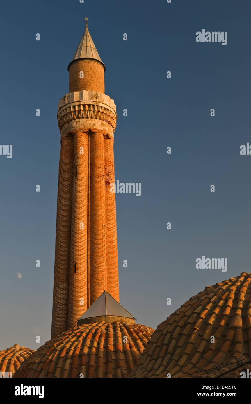 Yivli Minaret Antalya Turkey - Stock Image