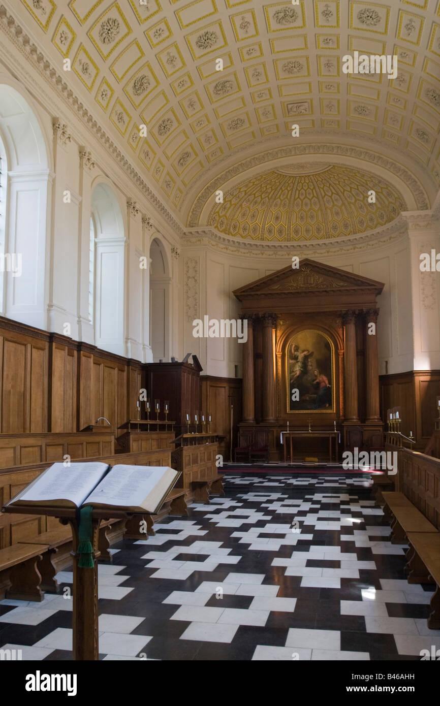 Clare College Chapel Cambridge Cambs GB UK - Stock Image