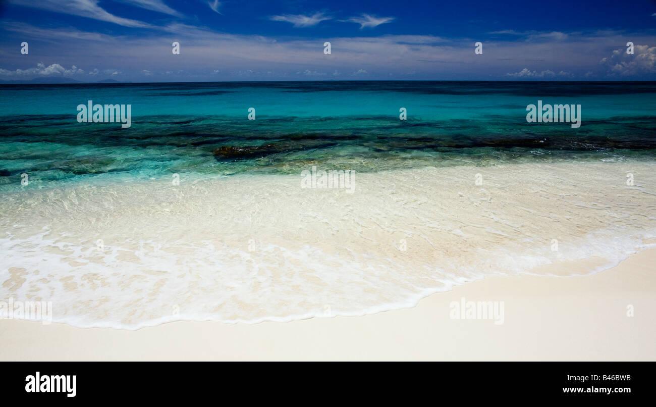 Darkwood Beach on the Carribean island of Antigua - Stock Image