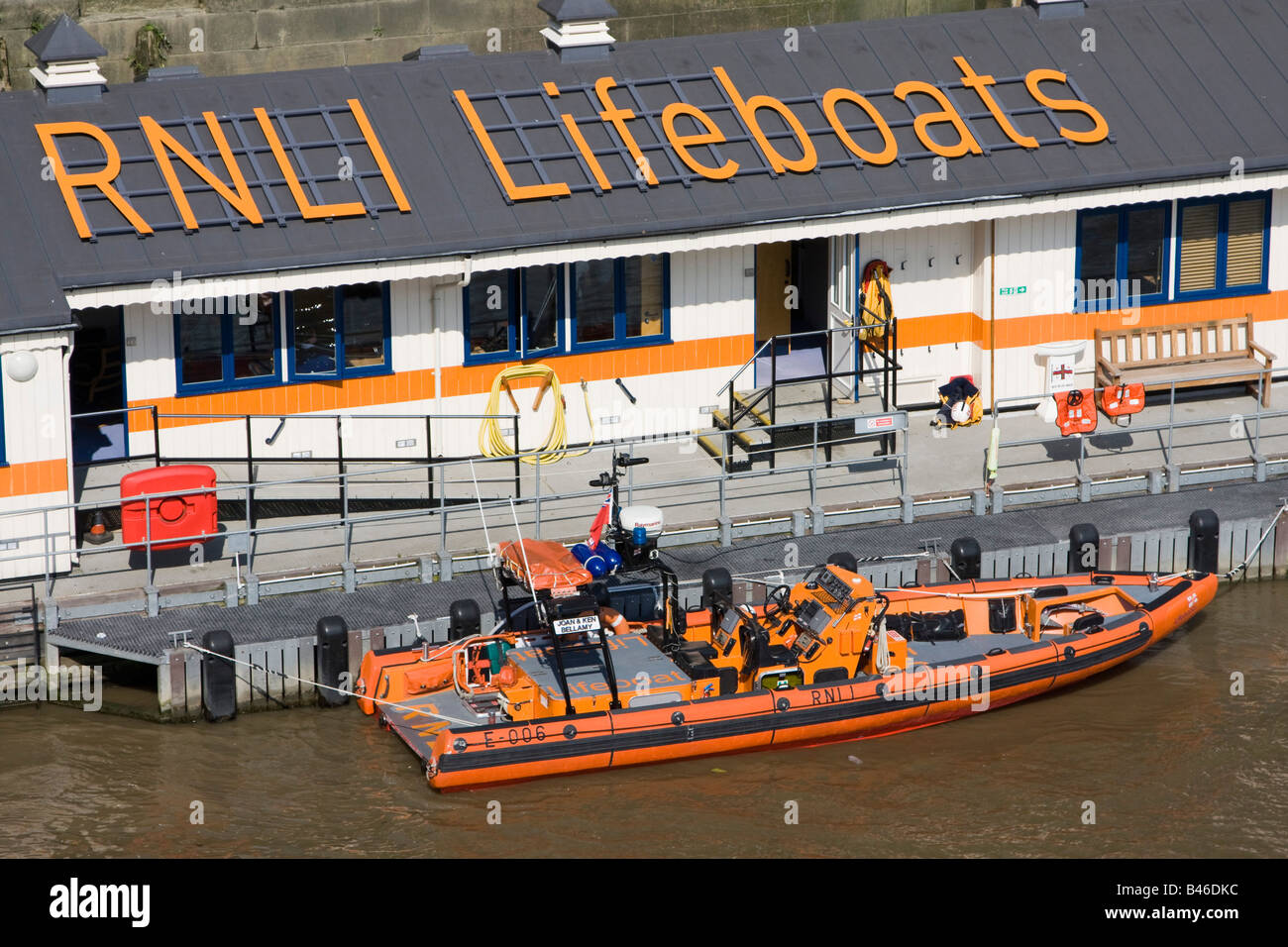 Tower Lifeboat is one of the RNLI's newest lifeboat stations city of london england uk gb - Stock Image