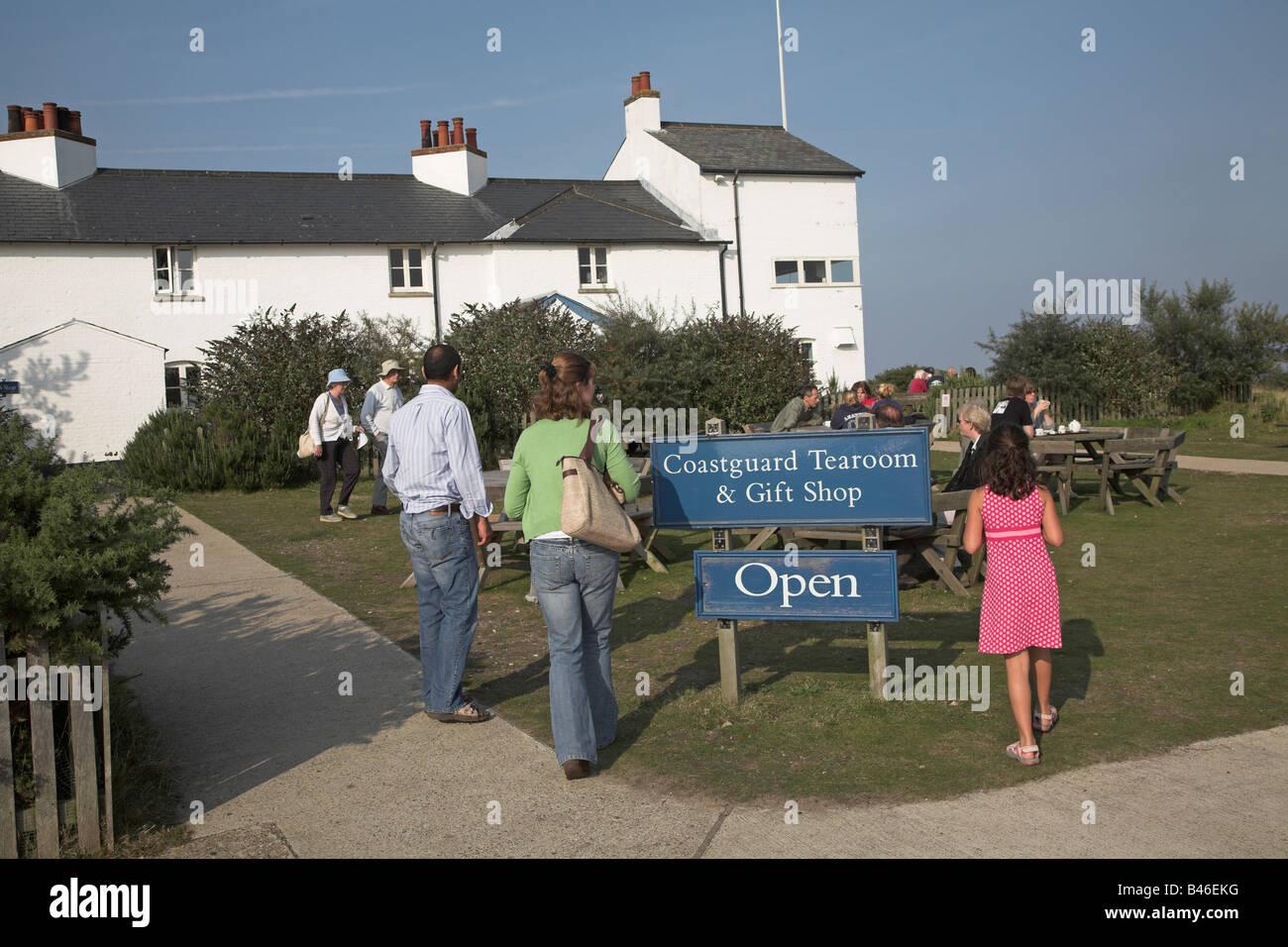 Coastguard Tearoom and Gift Shop, Dunwich Heath, Suffolk, England - Stock Image