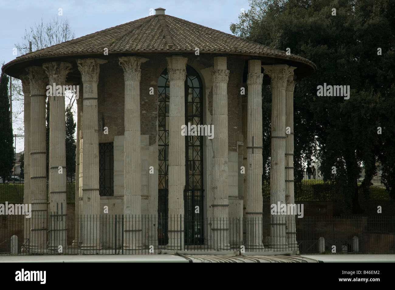 Temple of Hercule demigod of victory,Rome, Italy - Stock Image