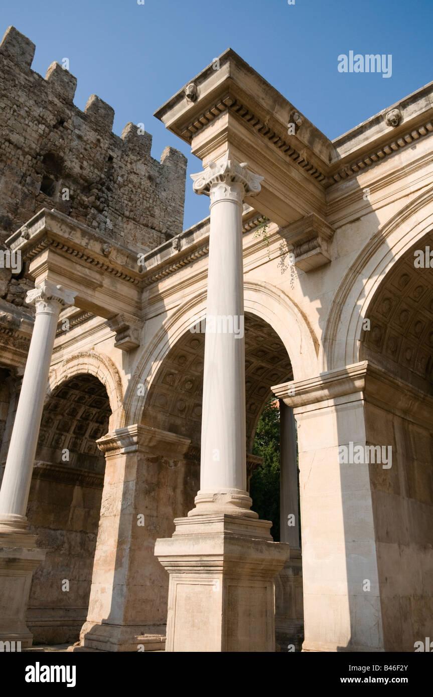 Hadrians Gate Antalya Turkey - Stock Image