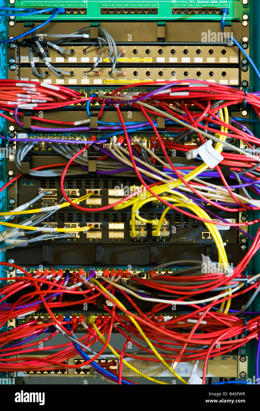 Brilliant Server Rack And Wires Stock Photos Server Rack And Wires Stock Wiring Digital Resources Funapmognl