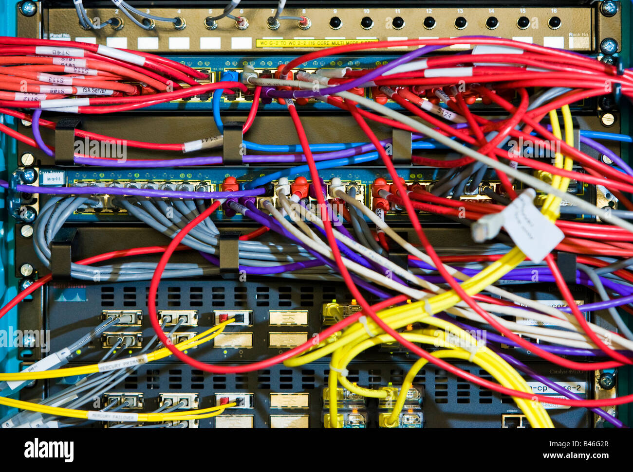 computer cables and wires in a server rack stock photo 19813327 alamy rh alamy com computer wires organizer computer wires and connectors in new jersey