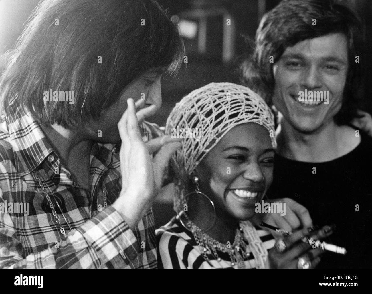 Les Humphries Singers, pop group, with Liz Mitchell, 1972, Additional-Rights-Clearances-NA - Stock Image