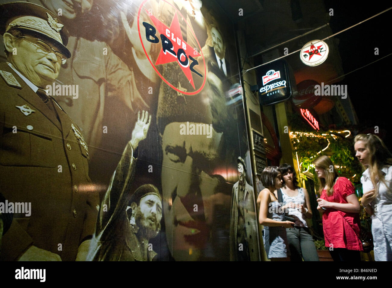 A night club in the Serbian city of Nis, Club Broz, named after the longtime Yugoslav strongman, Josip Broz Tito. - Stock Image