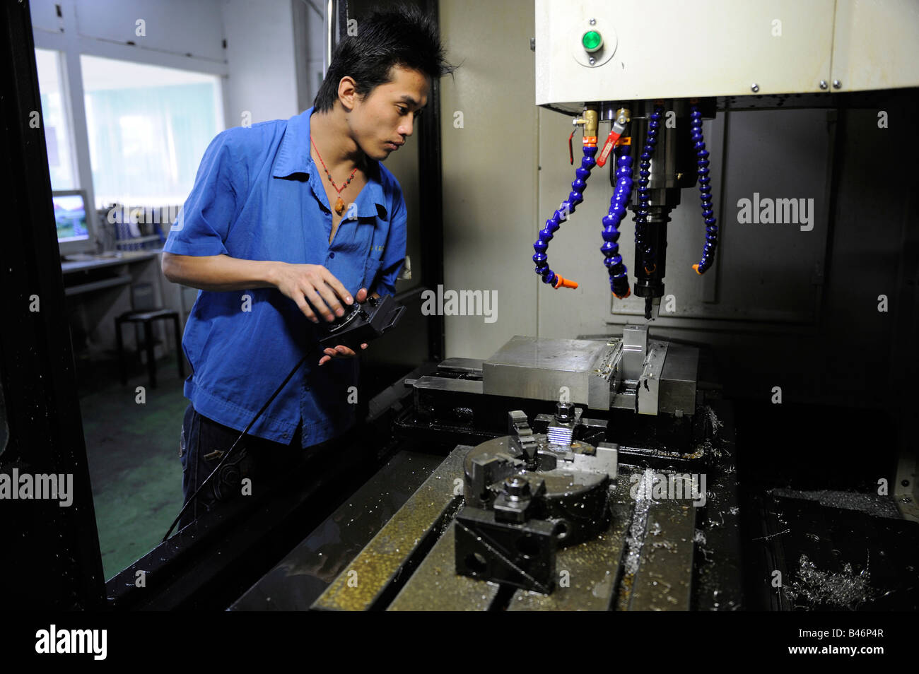 Industrial mold factory in Dongguan, Guangdong, China. 20-Sep-2008 - Stock Image