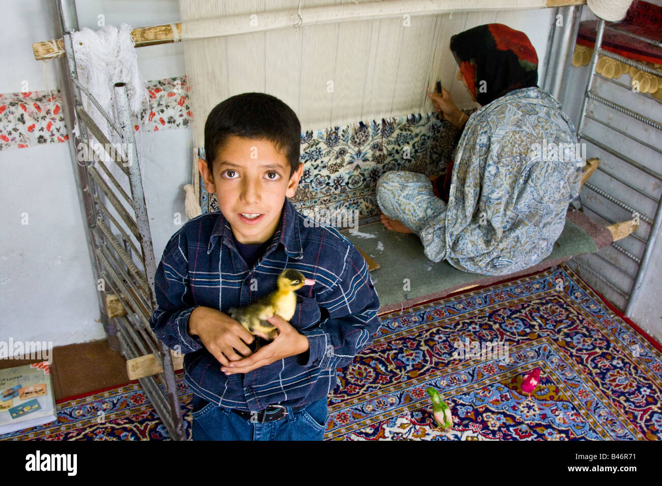 Rug Weaving Iran Stock Photos Amp Rug Weaving Iran Stock
