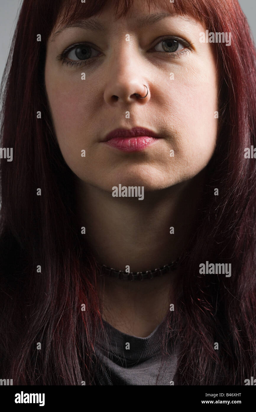 Portrait of a woman with nose ring Stock Photo