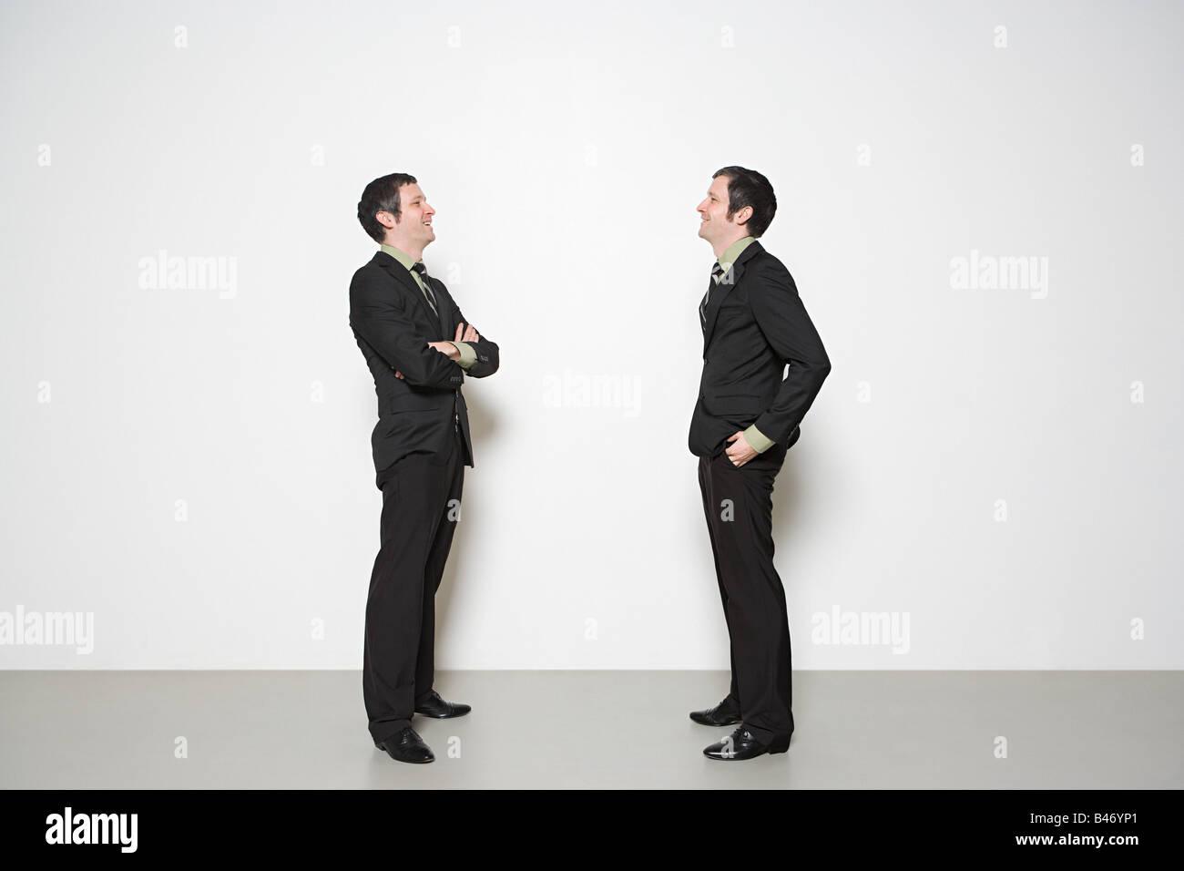 Men having conversation Stock Photo