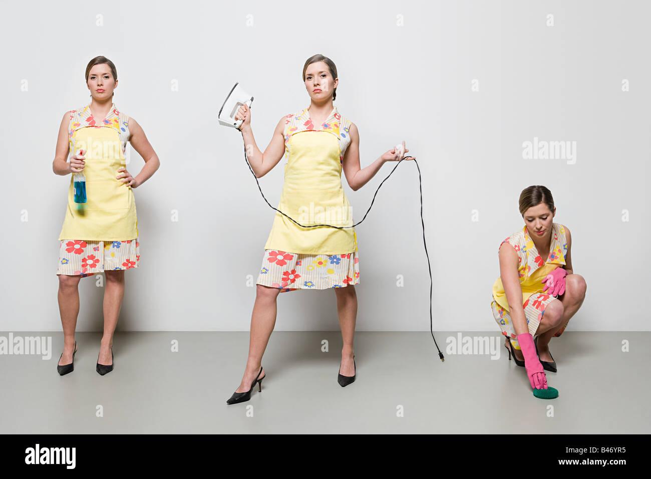 Woman doing housework - Stock Image