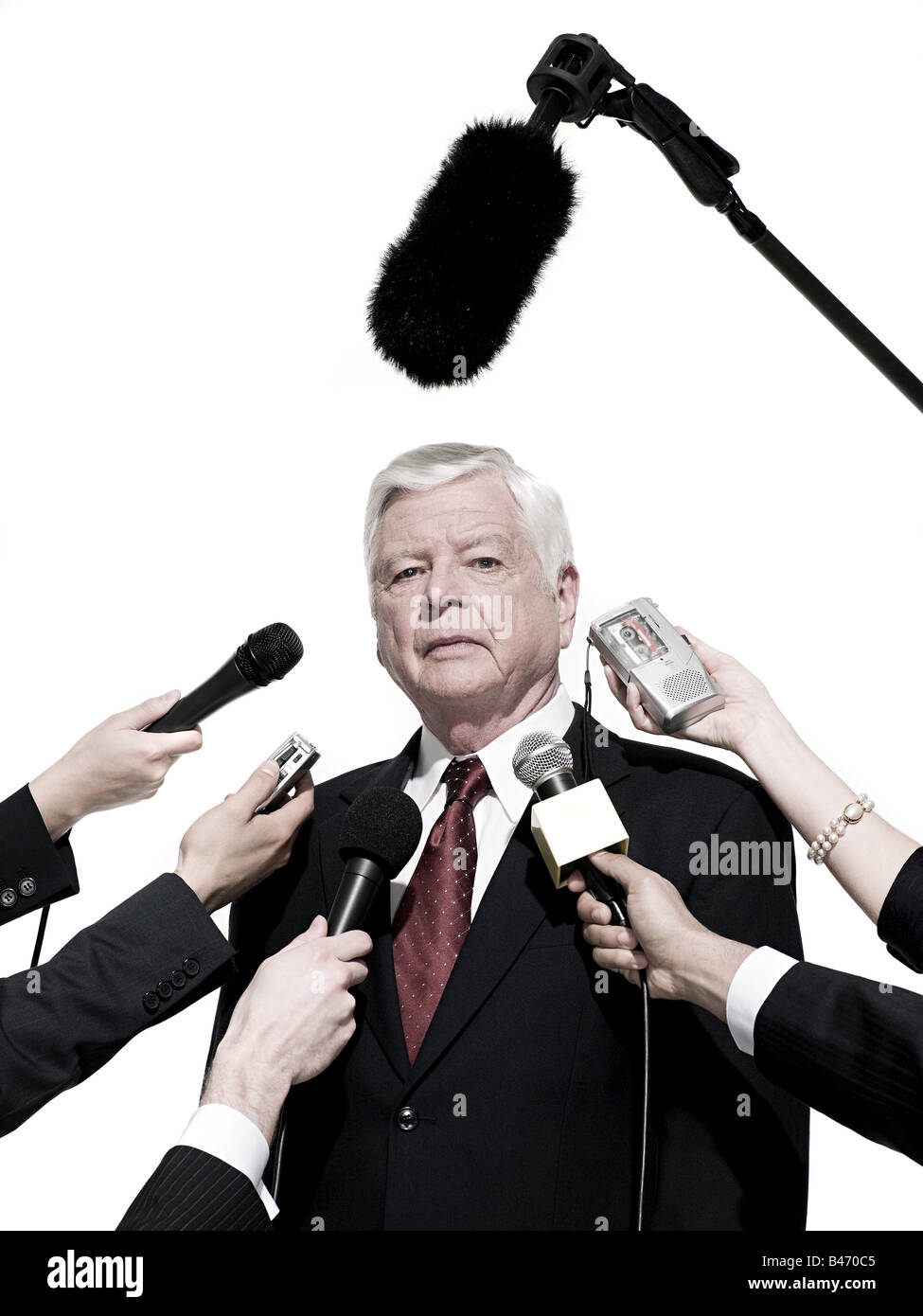 Politician and journalists - Stock Image