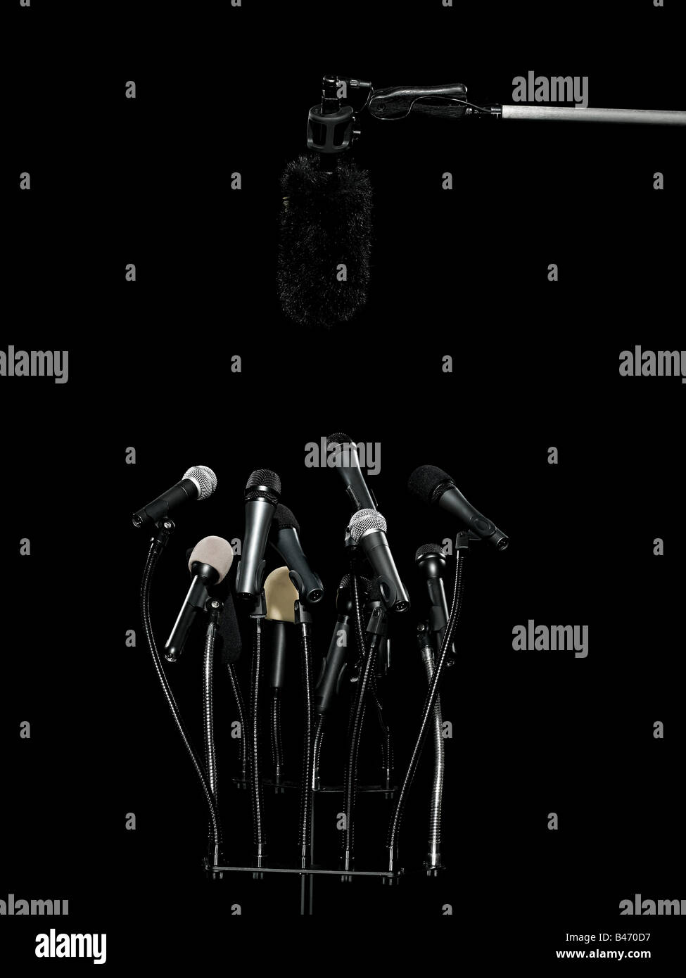 Microphones - Stock Image