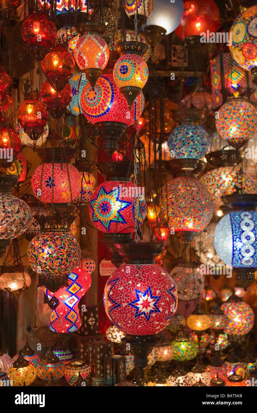 Lamps in istanbul grand bazaar - Stock Image