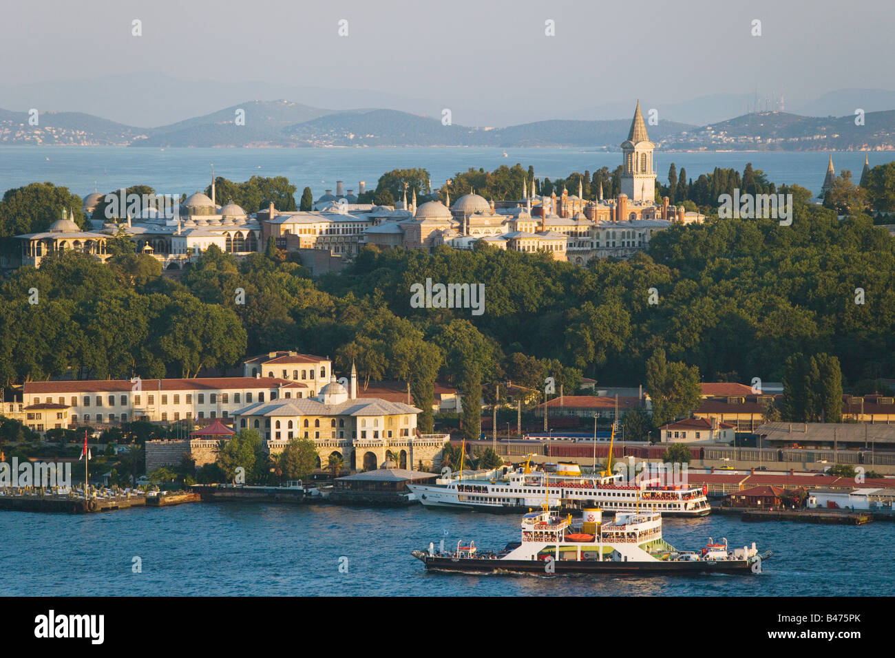 Golden horn and topkapi palace Stock Photo