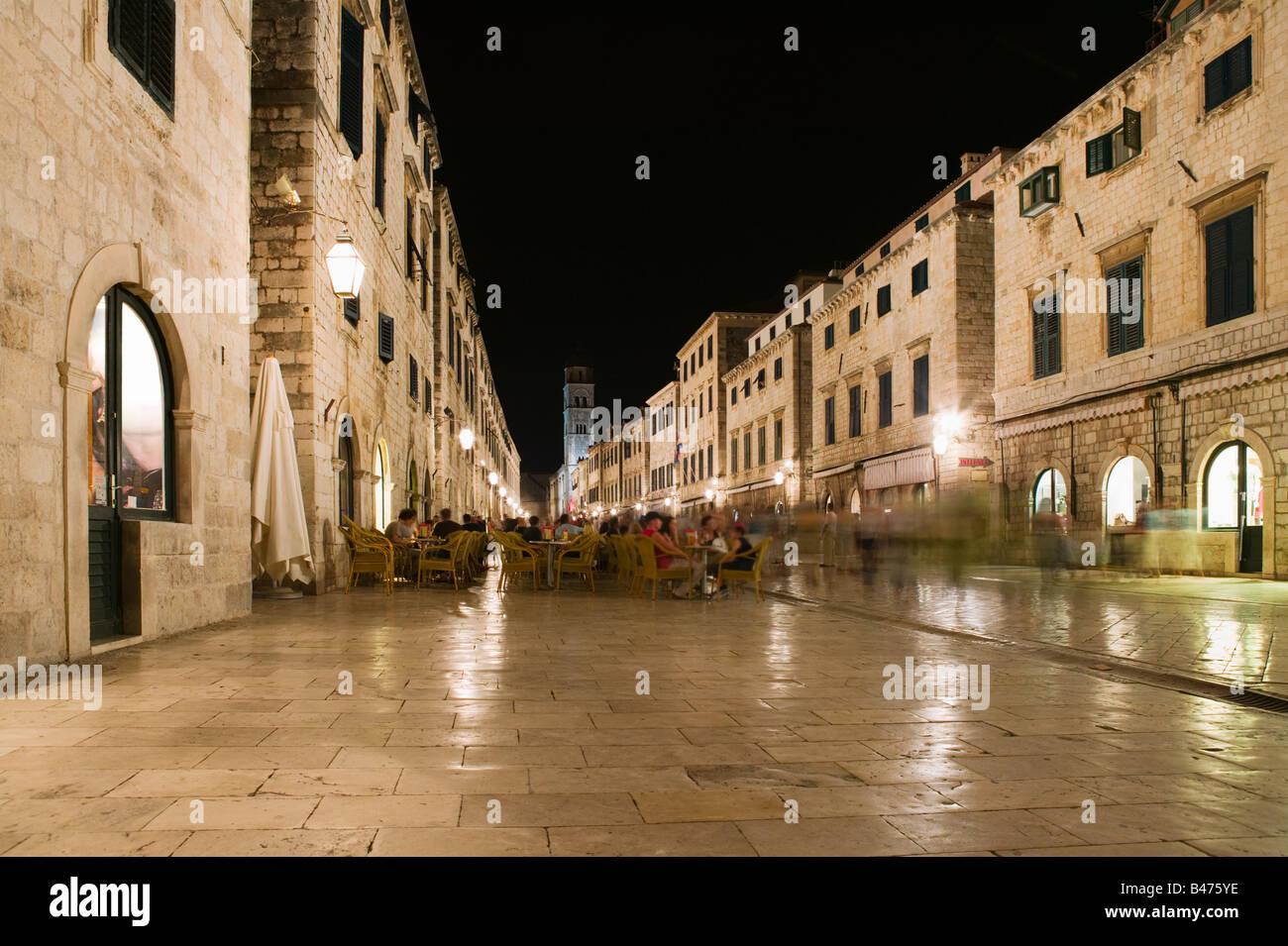 Street in dubrovnik old town - Stock Image