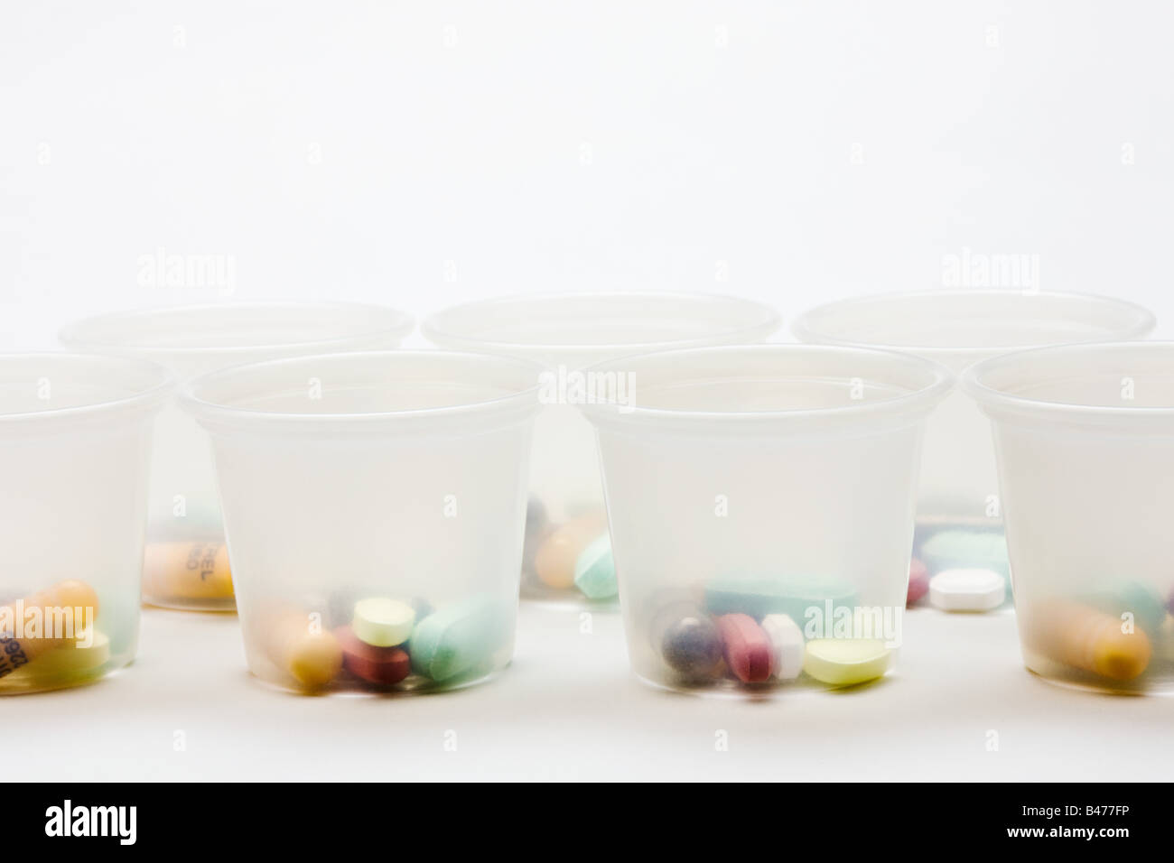 Tablets in containers - Stock Image