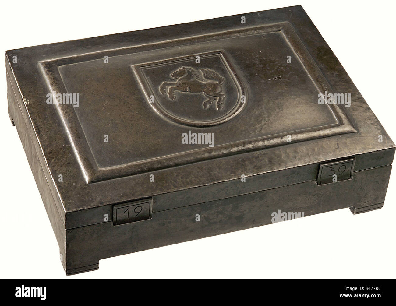 Hermann Göring., A presentation casket from the South Westphalian District on the occasion of his 46th birthday - Stock Image