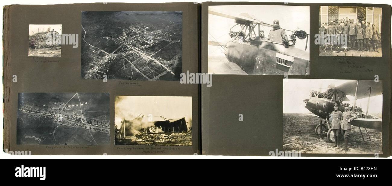 A commemorative album, of Signalman Karl Nolte, Replacement Flying Detachment 7, Flying Detachment 64 and Flying - Stock Image