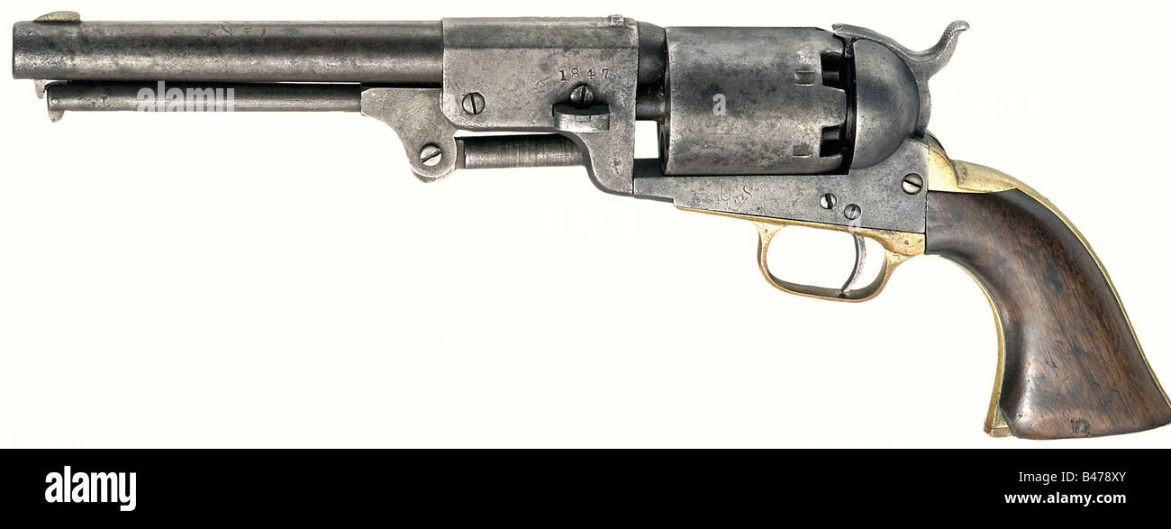 A Colt 3rd model dragoon with 8-inch barrel,  44 percussion
