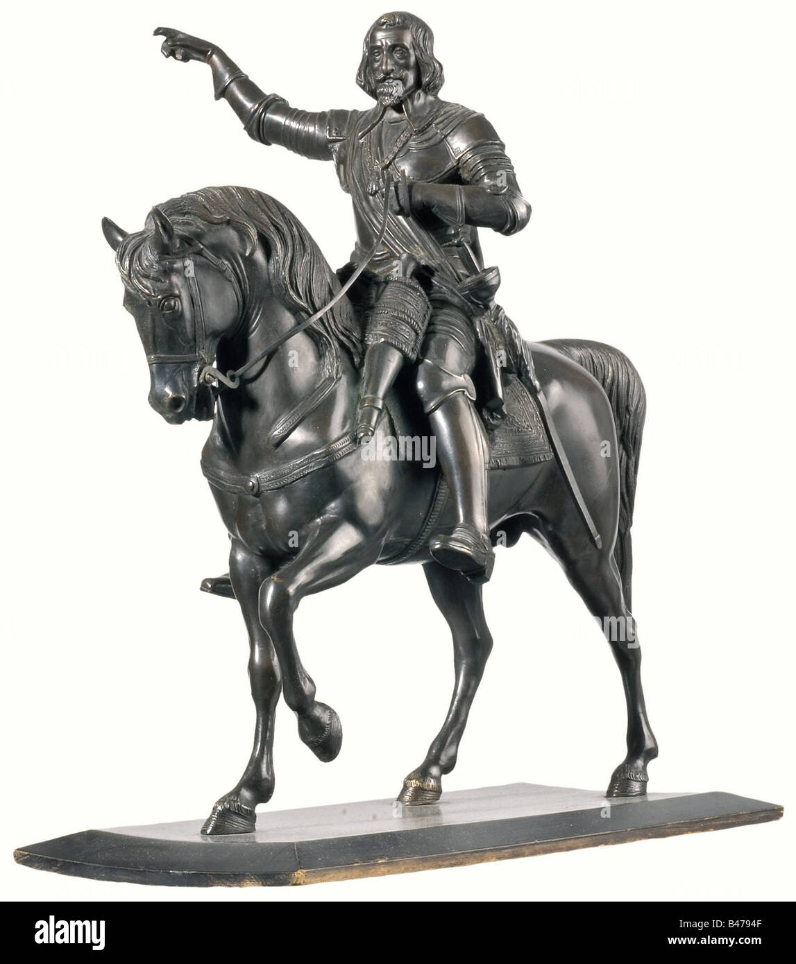 Elector Maximilian I - a bronze sculpture, late 19th century. Bronze with dark patina. Figure of the Elector after - Stock Image