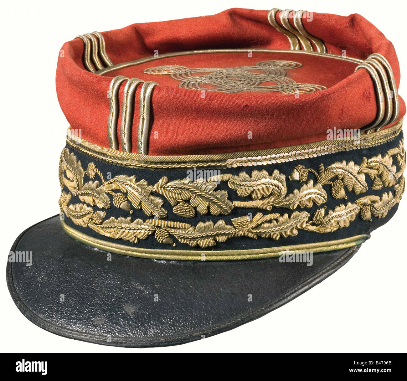 Philippe Pétain - Képi as Général de Division (Major General)., A black band with two rows of - Stock Image