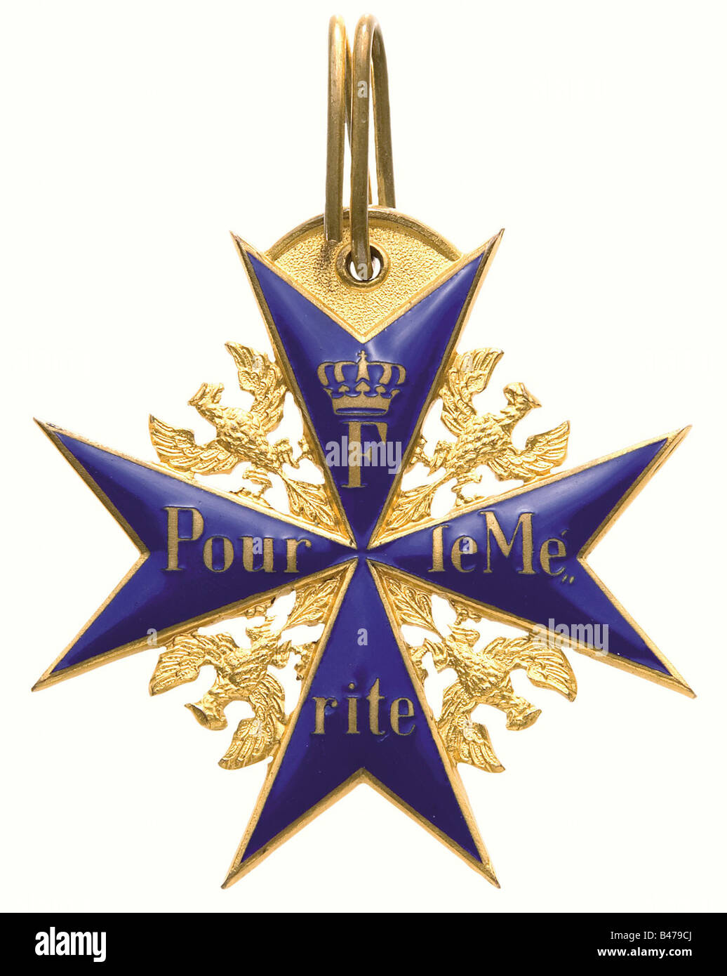 Ernst Udet - Pour le mérite., Display item 1928, present of the jewellers and medal makers Hemmerle Brothers - Stock Image