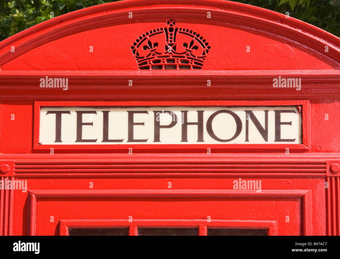 Traditional red telephone box, London, UK - Stock Image