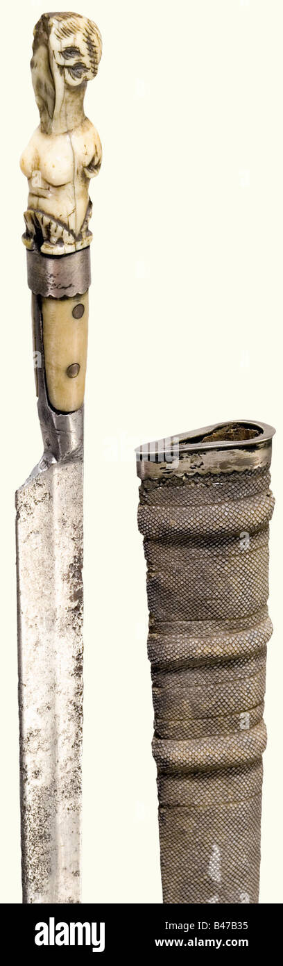 A long knife from the possession of the Archbishop Wolf Dietrich von Raitenau, German, end of the 16th century Slender - Stock Image