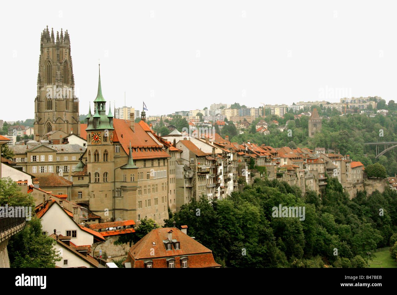 View of Fribourg. - Stock Image