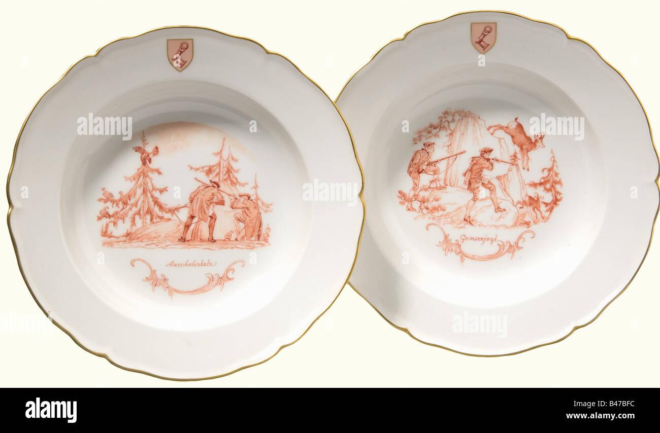 Hermann Göring a pair of large deep dinner plates u0027Gemsenjagdu0027 and u0027Auerhahnbalz & Keith Wilson Collection Stock Photos u0026 Keith Wilson Collection Stock ...
