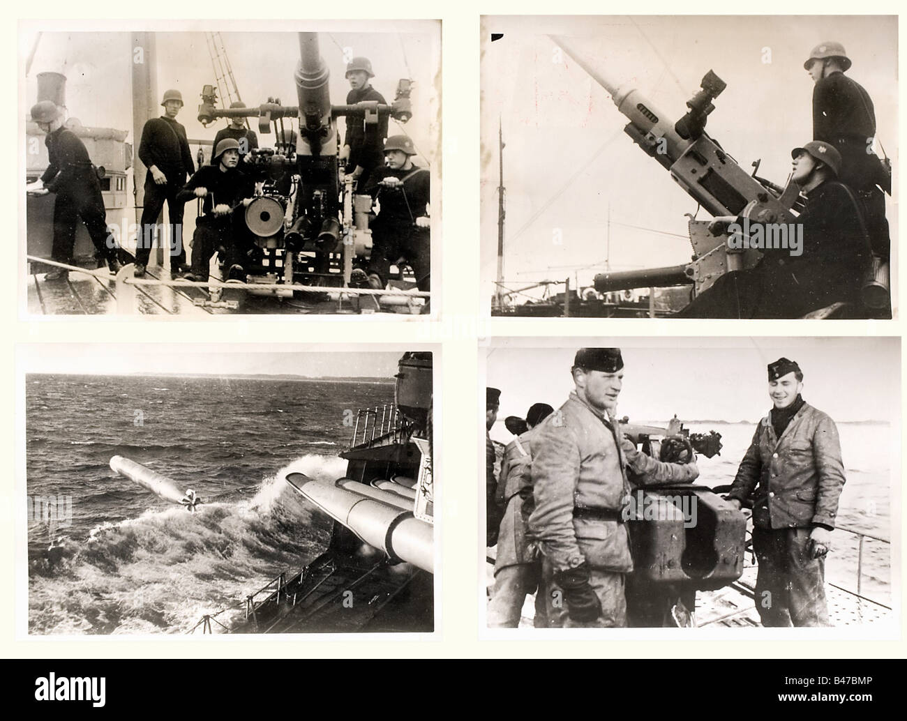 104 newspaper photographs - Navy, period of the Second World War Interesting photos of many different units, including - Stock Image