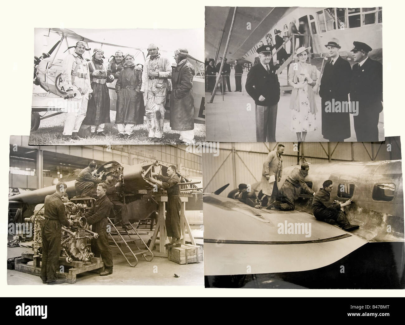 103 photographs of civilian aviation, during the 1930s Emphasis on the German Lufthansa and the NSFK (= National - Stock Image