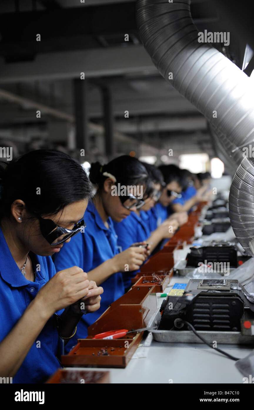 Electronic plant in Dongguan, Guangdong, China.  20-Sep-2008 - Stock Image