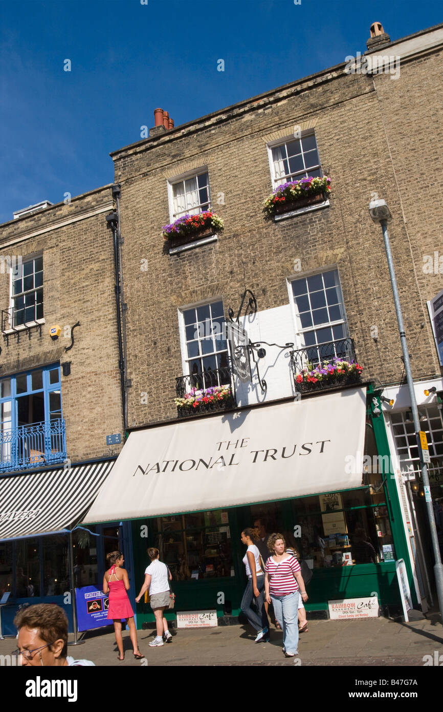 National Trust shop in King's Parade Cambridge Cambs GB UK - Stock Image