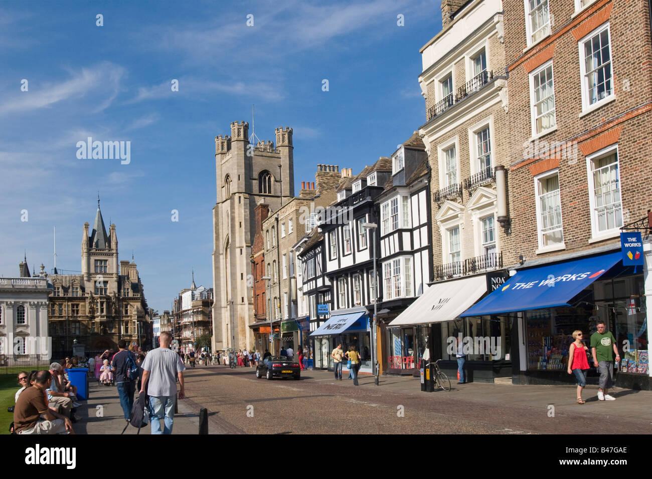 King's Parade Cambridge Cambs GB UK - Stock Image
