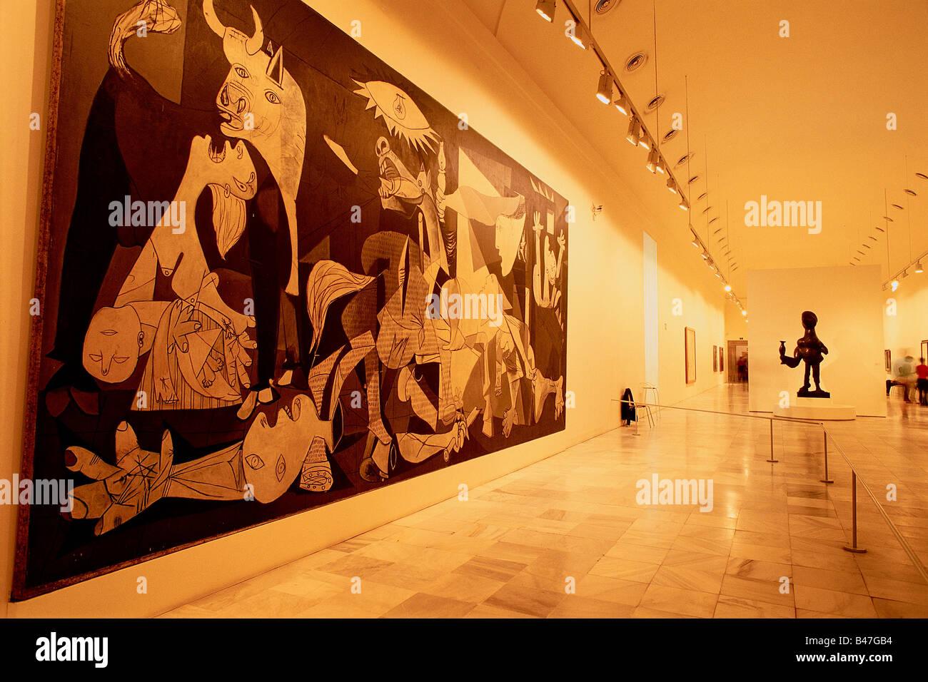 Spain - Madrid - Centro de Arte Reina Sofia - Queen Sofia Art Center - Museum of Modern 20th permanent room of exhibition - Stock Image