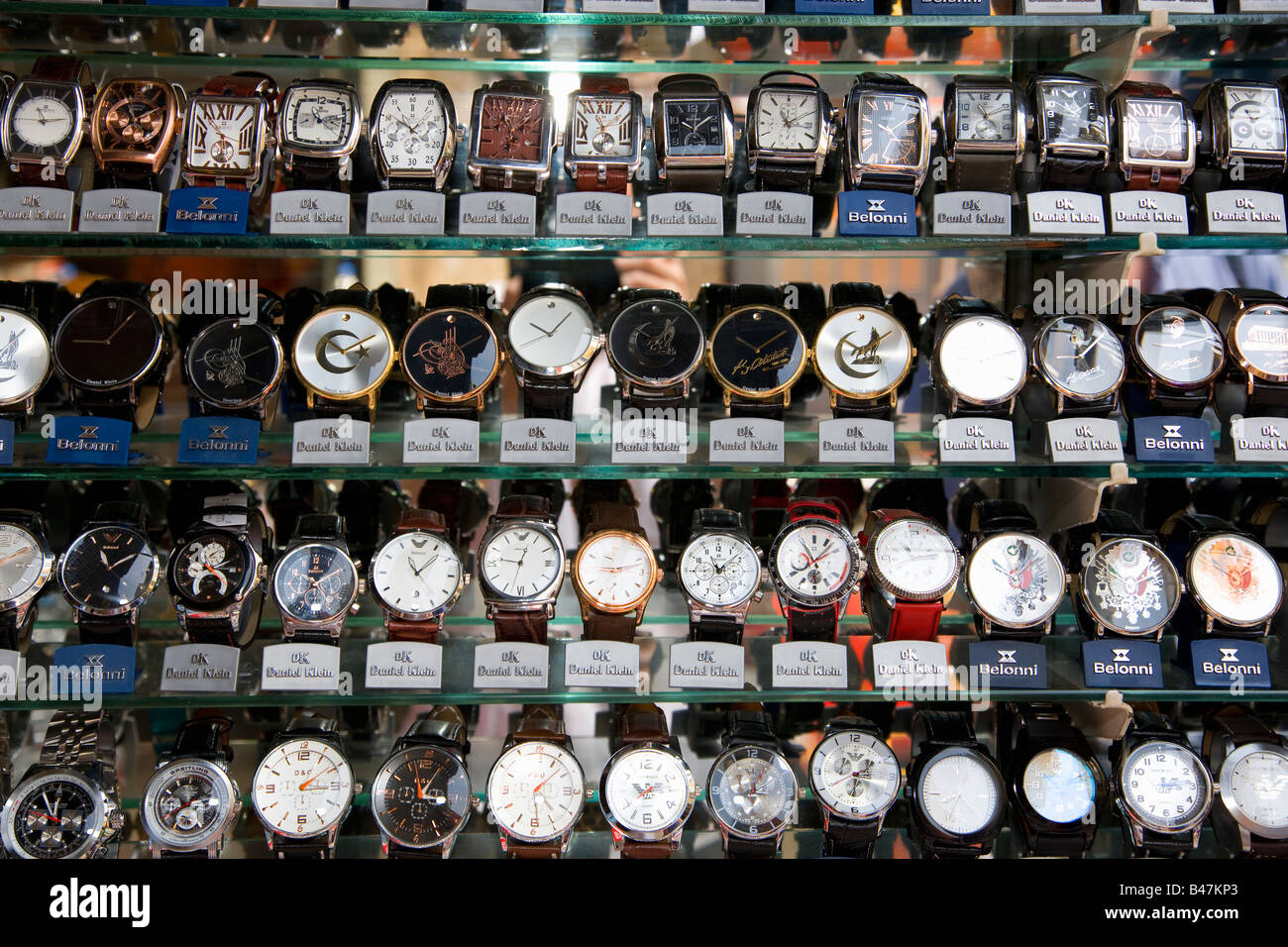 Turkey Istanbul Fake Designer watches - Stock Image