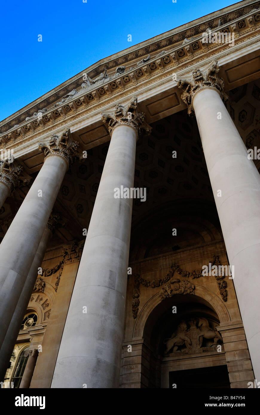 The Royal Exchange London Britain Stock Photo