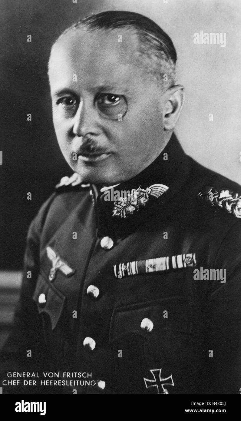Fritsch, Werner von, 4.8.1880 - 22.9.1939, German General, Commander-in-Chief of the Army 1.6.1935 - 28.1.1938, - Stock Image