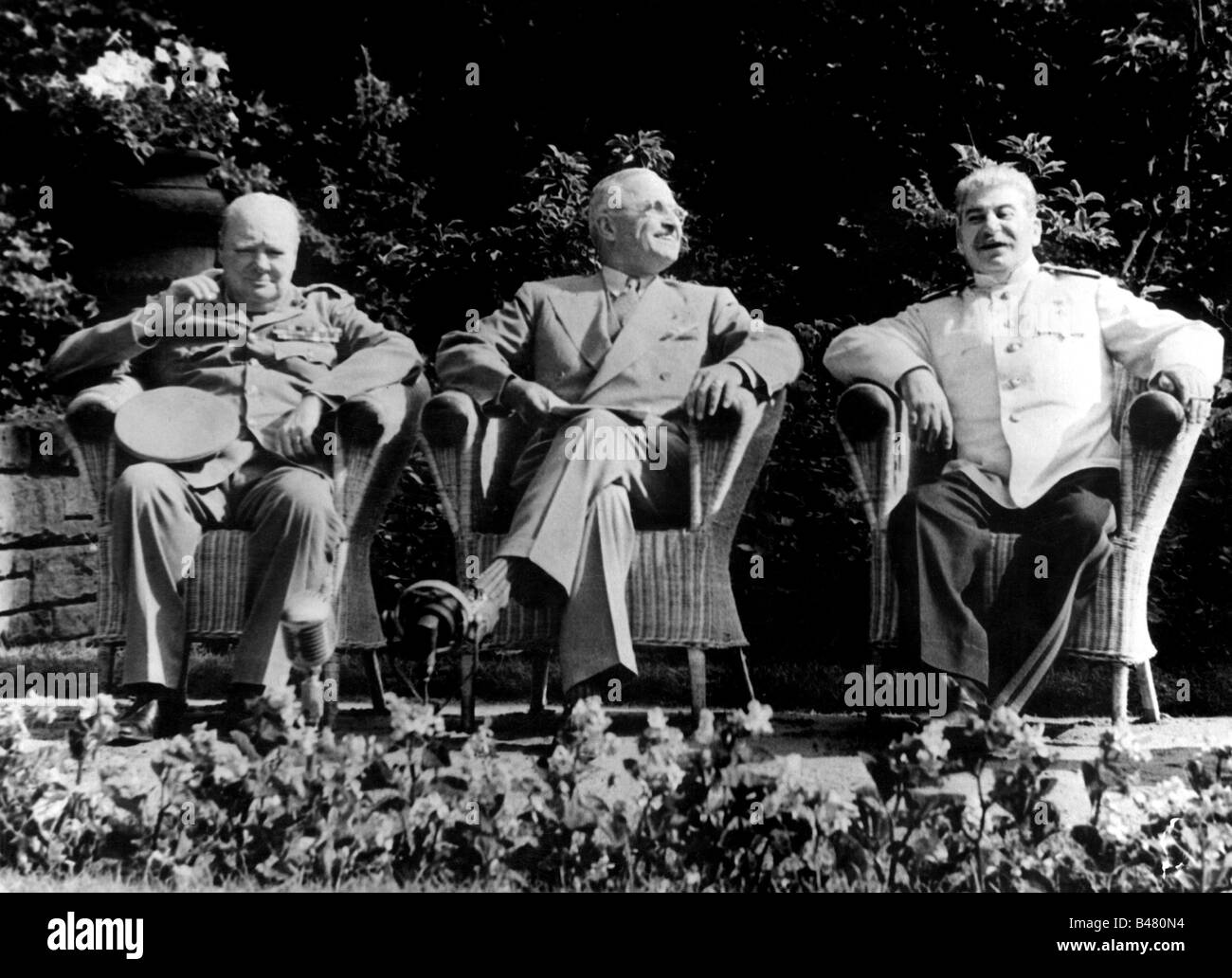 events, Second World War / WWII, conferences, Potsdam Conference 17.7.1945 - 2.8.1945, Joseph Winston Churchill, - Stock Image