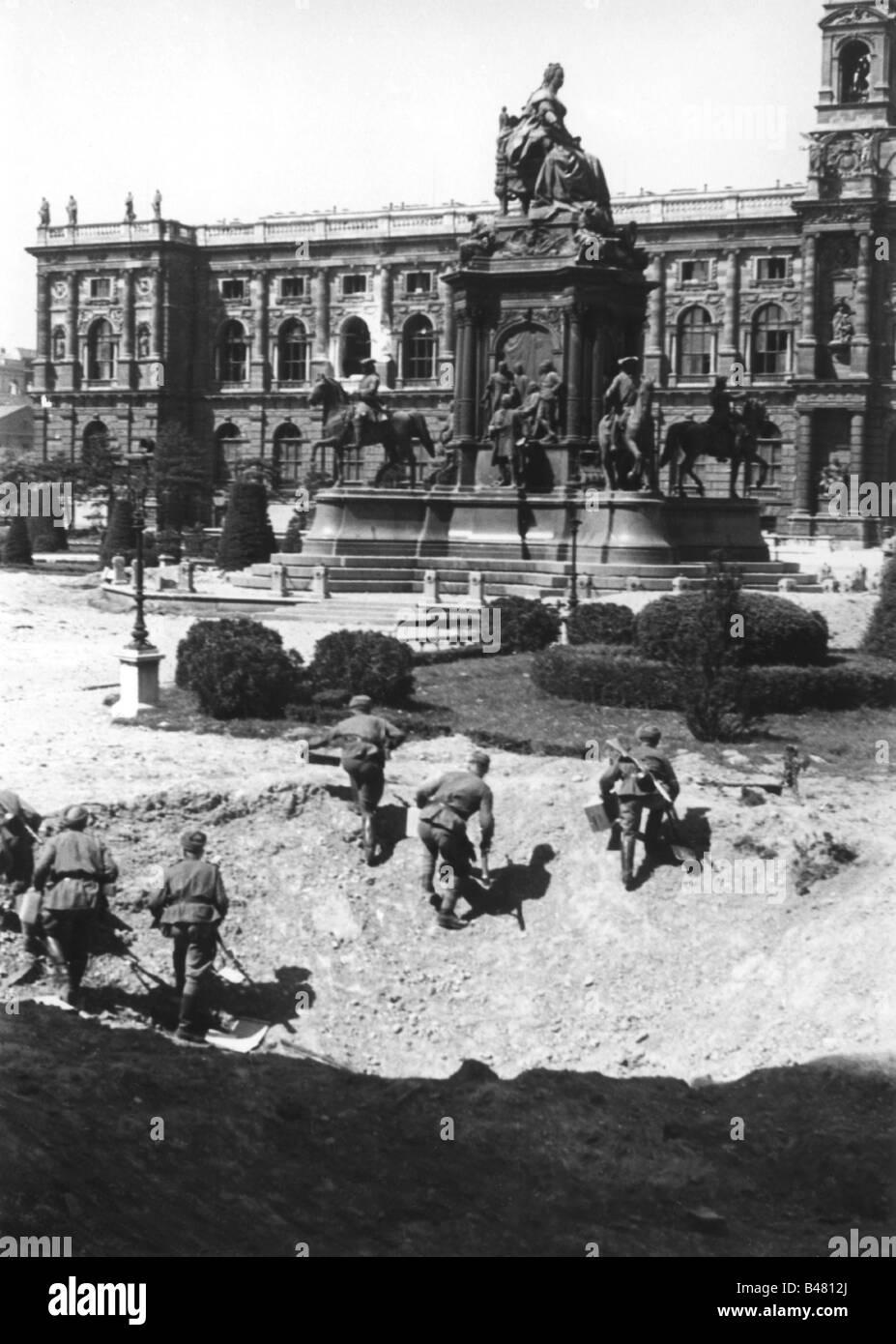 events, Second World War / WWII, Austria, end of war, Vienna 1945, Stock Photo
